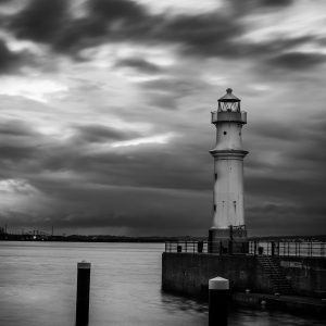 Edinburgh Lighthouse Newhaven B&W