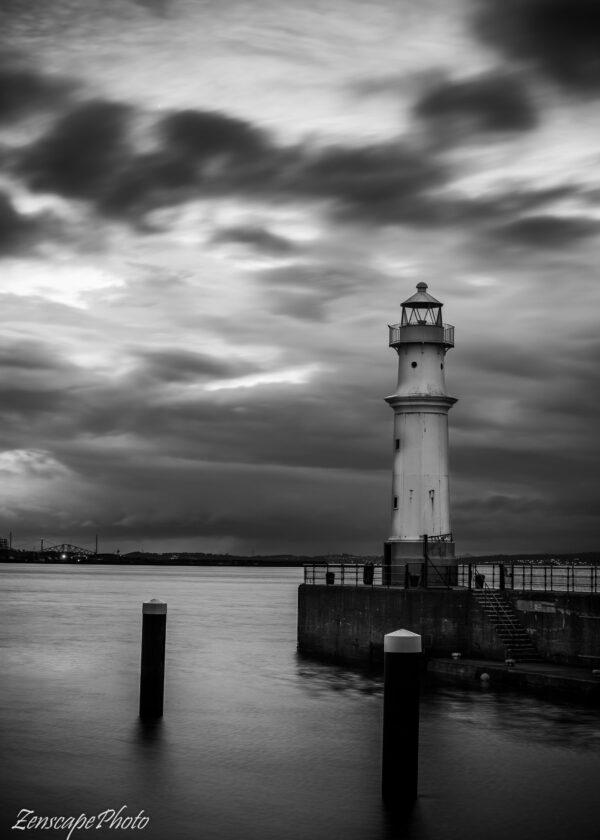 Edinburgh Lighthouse Newhaven B&W