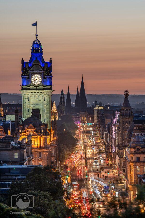Edinburgh Princes Street sunset