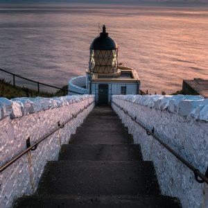 St Abbs Lighthouse Sunrise Photograph