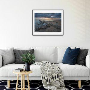 Portobello Beach sunrise Edinburgh print