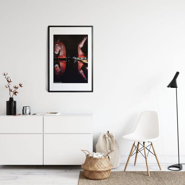 Red Kelpies Scotland photography print horse