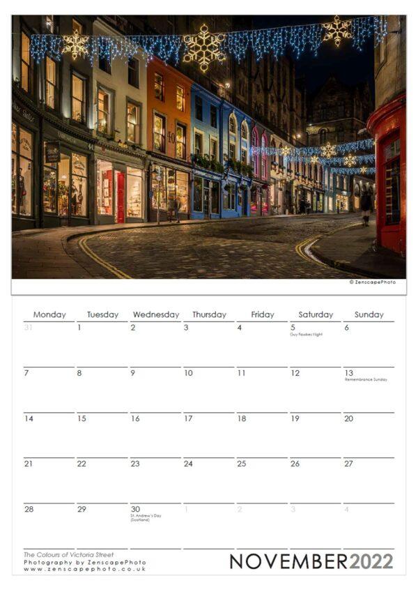 Edinburgh Calendar 2022, Edinburgh Holyrood Park Sunset image.