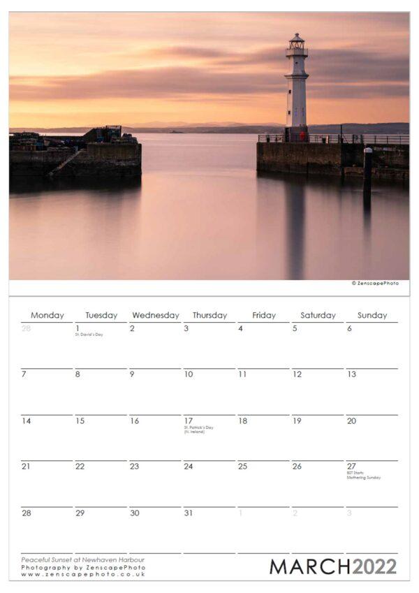 Edinburgh Calendar 2002 Newhaven Harbour at Sunset