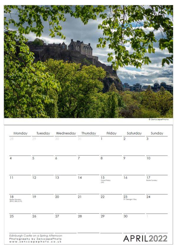 Edinburgh Calendar 2022 Edinburgh Castle