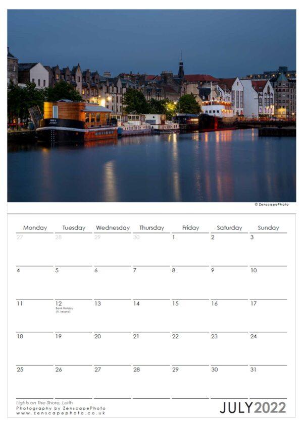 Edinburgh Calendar 2022 Leith Shore