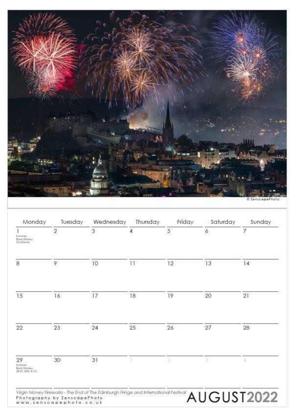 Edinburgh Calendar 2022 The Fringe Fireworks Virgin Money Fireworks